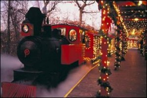 The Frisco Silver Dollar Line & depot at Christmas!