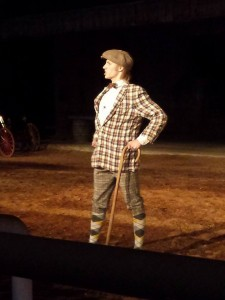 Our youngest son, Evan as 'Ollie' in the 2014 Shepherd of the Hills play