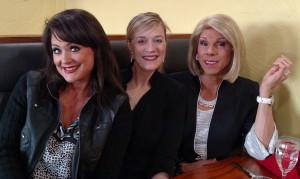 Dalena Ditto, Amy Roadarmel, & I as 'Joan' at La Piazza