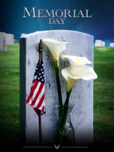 2008 Memorial Day Poster #1. Created by Virginia Reyes of the Air Force News Agency. US Air Force Photo by Vance Janes. Air Force Link does not provide printed posters but a PDF file of this poster is available for local printing. Requests can be made to art@afnews.af.mil. Please specify the title and number